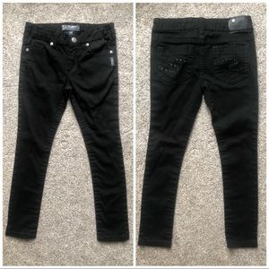 Girls Black skinny silver Jeans Amy fit